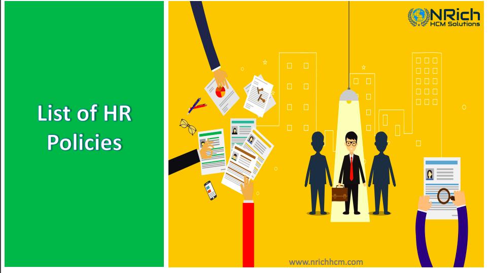 List of HR Policies
